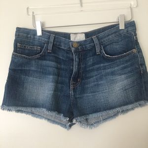 Current/Elliott The Boyfriend Short Denim Cutoffs